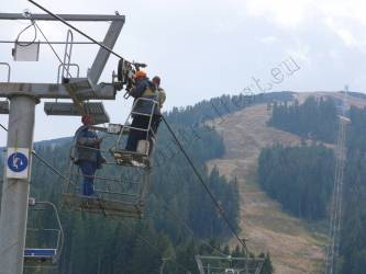 Transportation lines and ski lifts